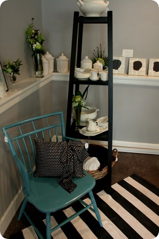 striped rug at the boutique