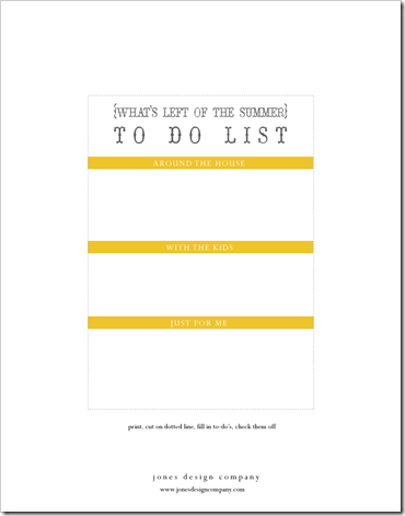 things to do list template