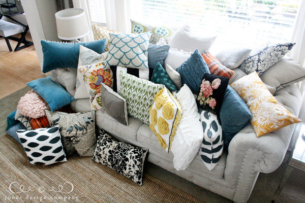 How Many Throw Pillows On A Sectional Couch : pillow talk jones design company