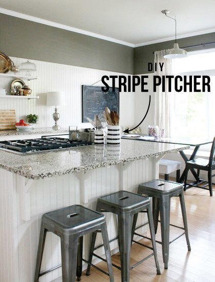 diy-striped-pitcher