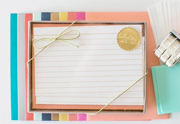 lindsay-letters-gold-index-cards
