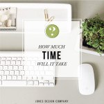 the most commonly asked questions about blogging: how much time will it take / jones design company