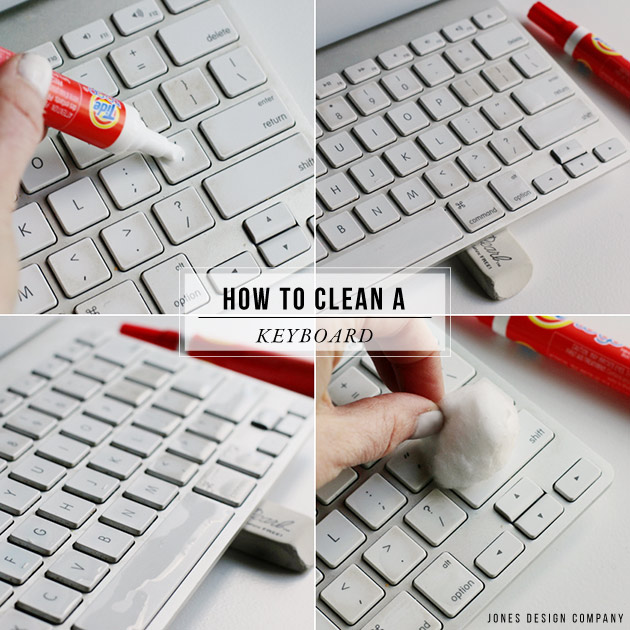 how to clean a keyboard in just a few simple steps / jones design company