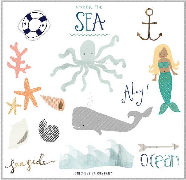 Free Under The Sea Clipart / jones design company