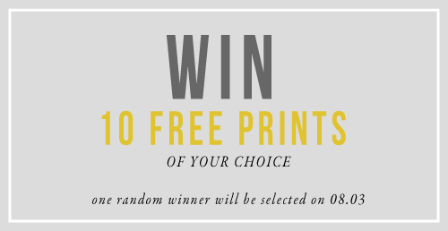 Enter to win 10 prints / jones design company