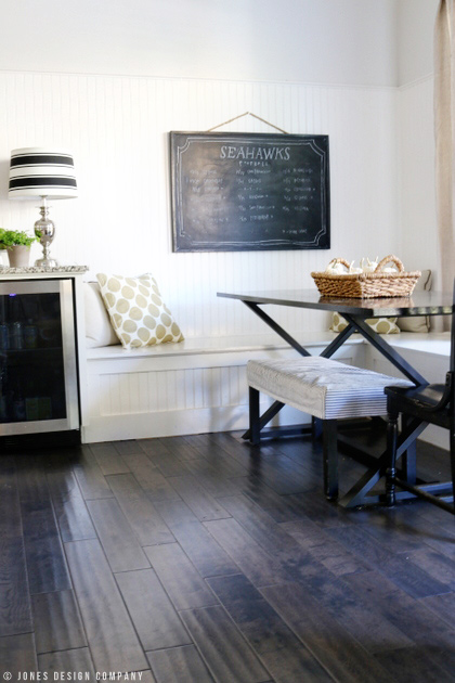 kitchen chalkboard / fall home tour / jones design company