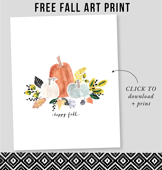 Free Fall Art Print / download at Jones Design Company