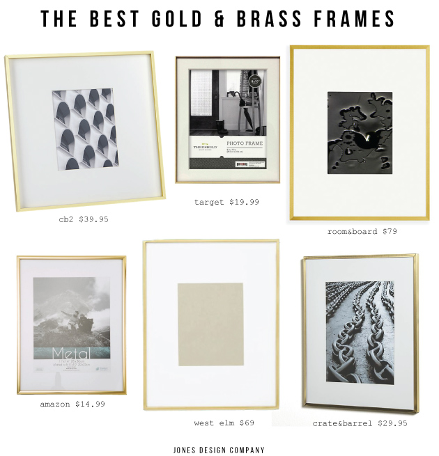 The Best Gold + Brass Frames / jones design company