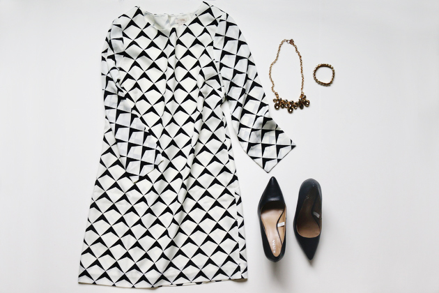 5 Festive Looks for Holiday Parties OUTFIT FIVE: shift dress + heels / jones design company